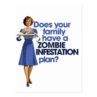 Carte Postale Plan d'infestation de zombi