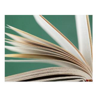 Carte Postale Plan rapproché de livre ouvert, tir de studio