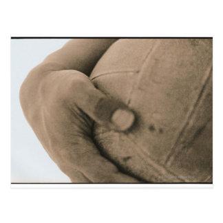 Carte Postale Plan rapproché de main avec le volleyball