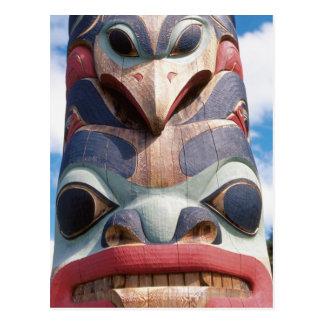 Carte Postale Plan rapproché de poteau de totem dans Sitka,