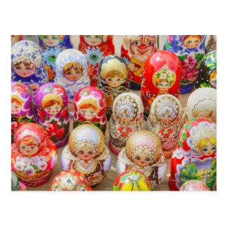 Carte Postale Plan rapproché des poupées nichées russes