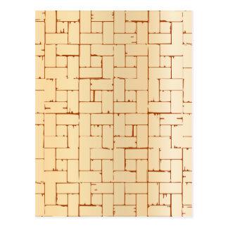 Carte Postale Plancher en bois de parquet