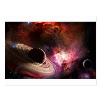 Carte Postale Planète de nébuleuse d'art de l'espace