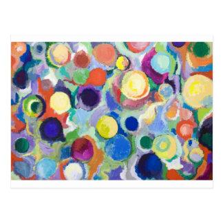 Carte Postale Planètes colorées (expressionisme abstrait)