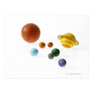 Carte Postale Planètes de système solaire sur l'arrière - plan