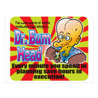 Carte Postale Planification, Dr. Bum Head