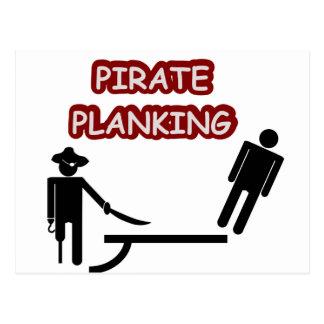 Carte Postale Planking de pirate