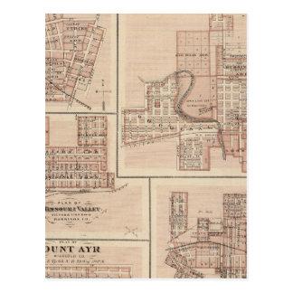 Carte Postale Plans de Monticello, Manchester, Missouri Valley