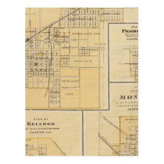 Carte Postale Plans de Newton, ville de prairie