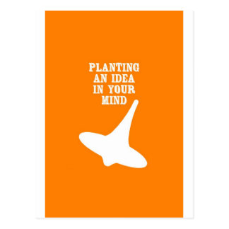 Carte Postale Plantez une idée dans votre esprit