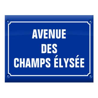 Carte Postale plaque avenue des Champs Elysées - FRANCE