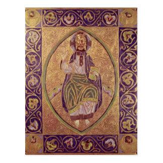Carte Postale Plaque dépeignant la bénédiction du Christ