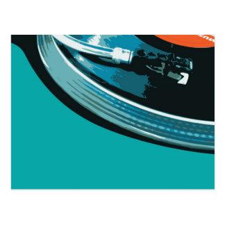 Carte Postale Plaque tournante de musique de vinyle