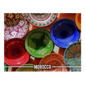 Carte Postale Plats en céramique marocains