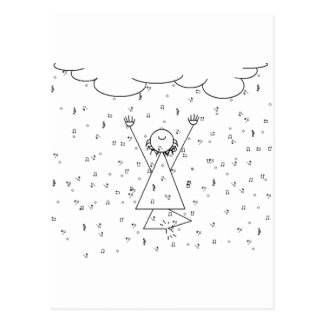 Carte Postale Pleuvoir l'exaltation de musique