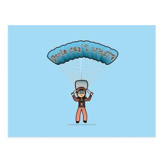 Carte Postale Plongeur léger de ciel de fille