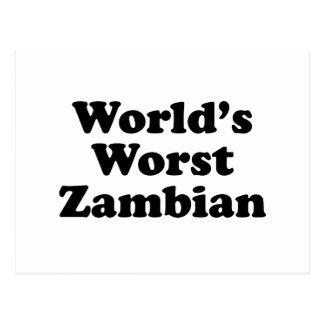 Carte Postale Plus mauvais zambien du monde