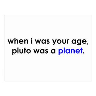 Carte Postale Pluton était une planète ? ! ?