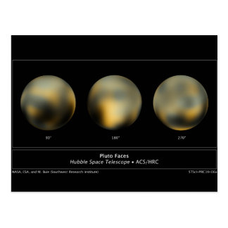 Carte Postale Pluton par le télescope spatial de Hubble de la