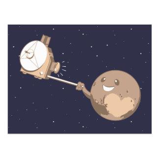 Carte Postale Pluton Selfie