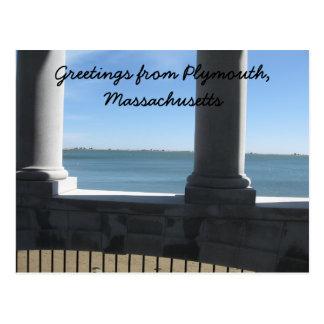Carte Postale Plymouth mA., vue de Plymouth Rock