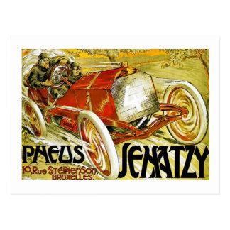 Carte Postale Pneus de Pneus, Senatzy Grand prix Bruxelles