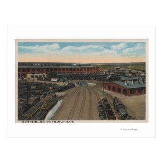 Carte Postale Pocatello, identification - Chambre ronde de dépôt