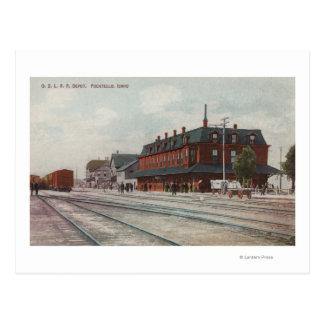 Carte Postale Pocatello, identification - trains et les gens