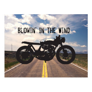 Carte Postale Pochoir de cool de cru de moto de coureur/gosse de