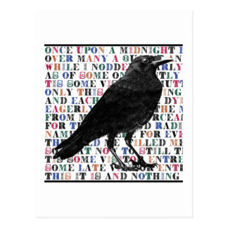 Carte Postale Poème Edgar Allan Poe de Raven