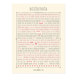 Carte Postale Poème inspiré de desiderata