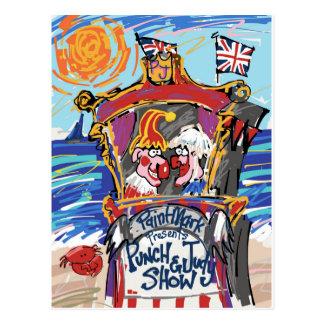Carte Postale Poinçon et Judy par PaintMark