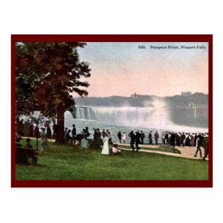 Carte Postale Point de perspective, cru 1909 de chutes du