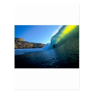 Carte Postale Point parfait surfant Pérou de panique de vague