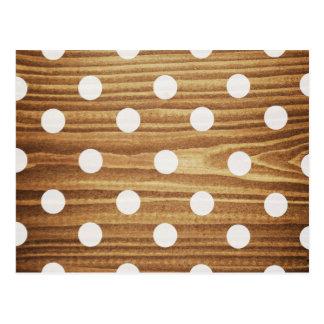 Carte Postale Points de polka en bois minimalistes