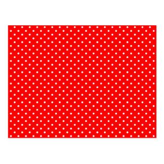 Carte Postale Pois rouge et blanc minuscule