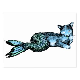 Carte Postale Poisson-chat