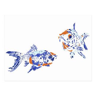 Carte Postale Poisson rouge