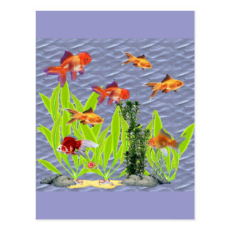 Carte Postale Poisson rouge