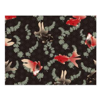Carte Postale Poisson rouge japonais