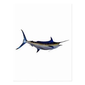 Carte Postale Poissons de Marlin bleu