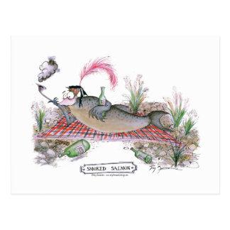 Carte Postale Poissons de saumon fumé, fernandes élégants