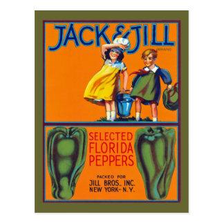 Carte Postale Poivrons de Jack et de Jill la Floride