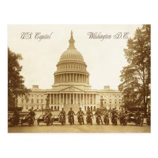 Carte Postale Policiers de moto au capitol des USA