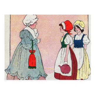 Carte Postale Polly, a mis la bouilloire dessus, Polly, a mis la