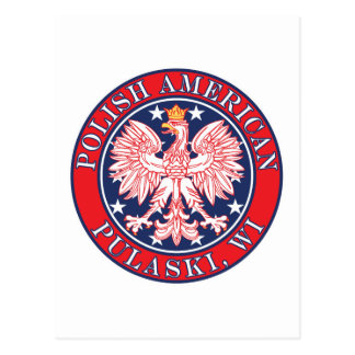 Carte Postale Polonais de Pulaski le Wisconsin