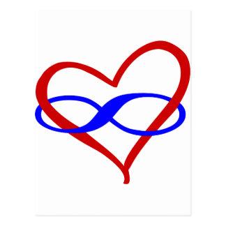 Carte Postale Poly infini de coeur