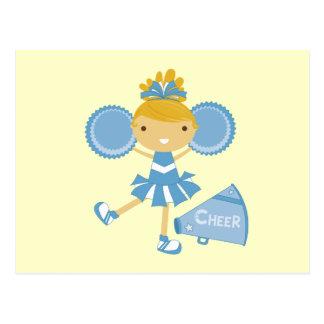Carte Postale Pom-pom girl dans le bleu