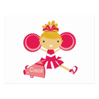 Carte Postale Pom-pom girl en rouge