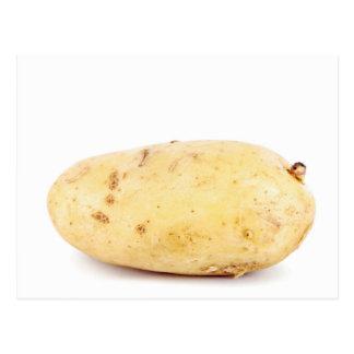 Carte Postale Pomme de terre jaune non épluchée